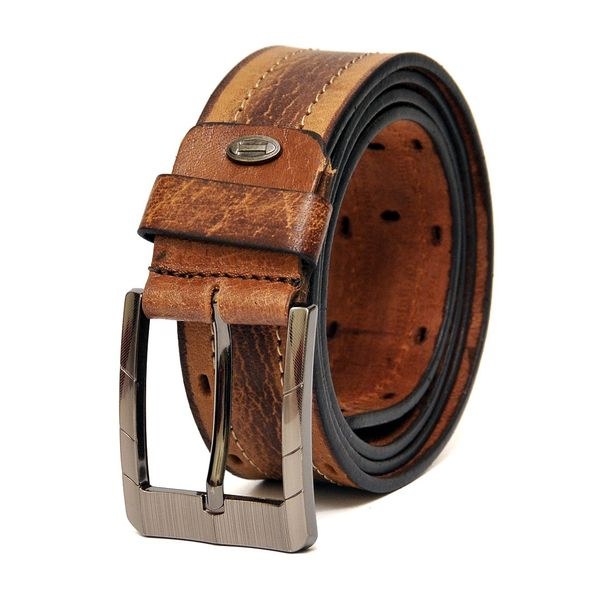 HIDEMARK COPPER BROWN LEATHER CASUAL BELT