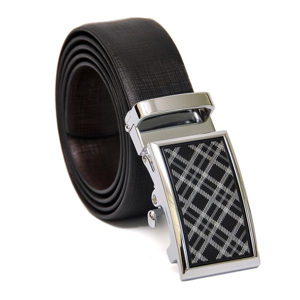 EXCLUSIVE REVERSIBLE LEATHER BELT WITH EXQUISITE AUTO LOCK BUCKLE