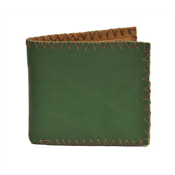 VINTAGE STYLE LEATHER WALLET - GREEN