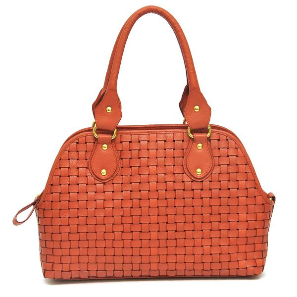 HIDEMARK HAND CRAFTED MESH PATTERN LEATHER SATCHEL HANDBAG 97674f52eb610