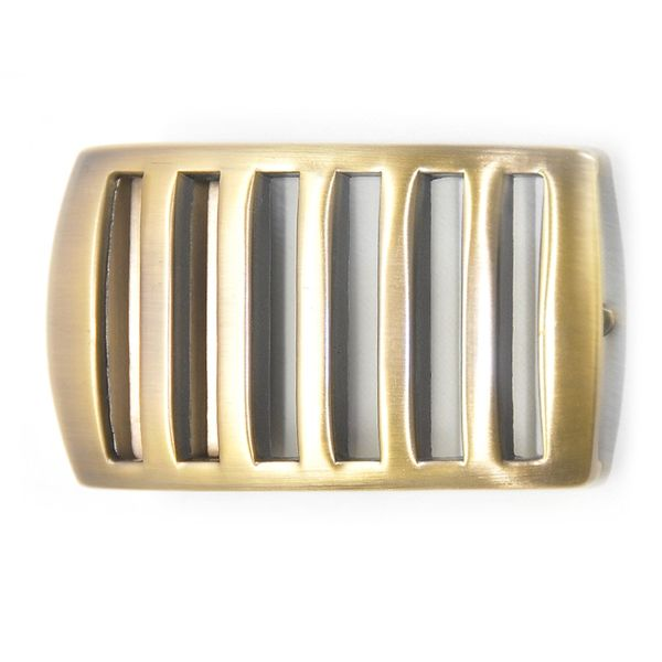 GOLD TONE LINES BOX FRAME BUCKLE