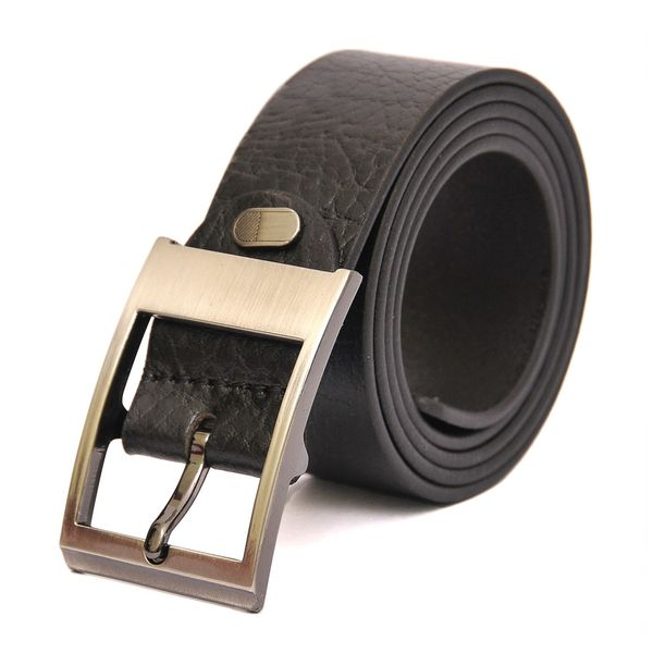 HIDEMARK BLACK TEXTURED LEATHER BELT
