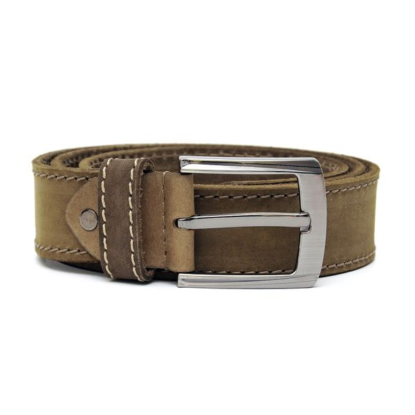 SUEDE LEATHER BELT IN CAMEL BROWN