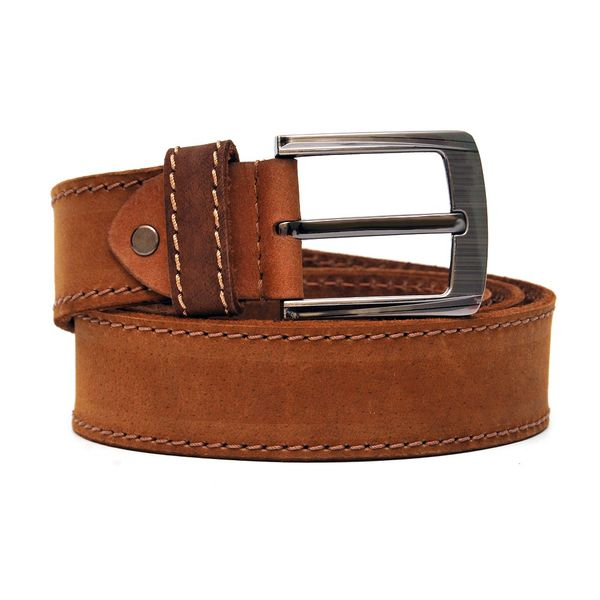 SUEDE LEATHER BELT IN BURNT ORANGE