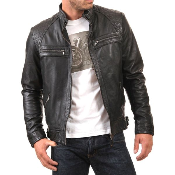 f70d4bd0c5 Buy Black Leather Jacket for Men online at Best Prices.