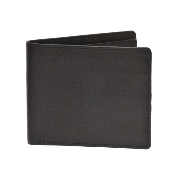HIDEMARK BLACK SOFT LEATHER SLIM WALLET