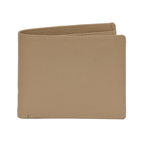 STYLISH TEXTURED LEATHER WALLET IN TAN