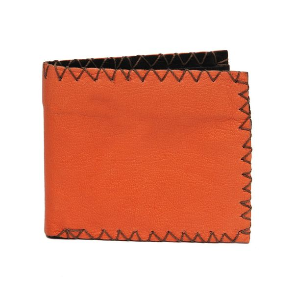 VINTAGE LEATHER WALLET ORANGE