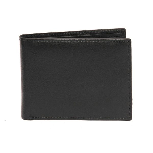 HIDEMARK GRAIN LEATHER WALLET BLACK