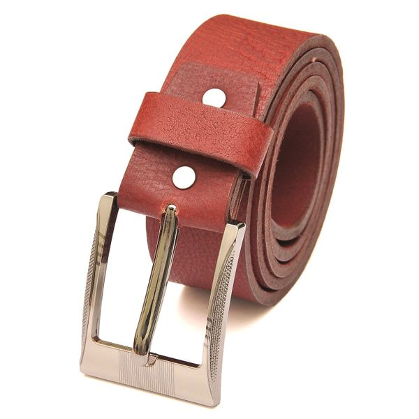 HOT RED CASUAL LEATHER BELT