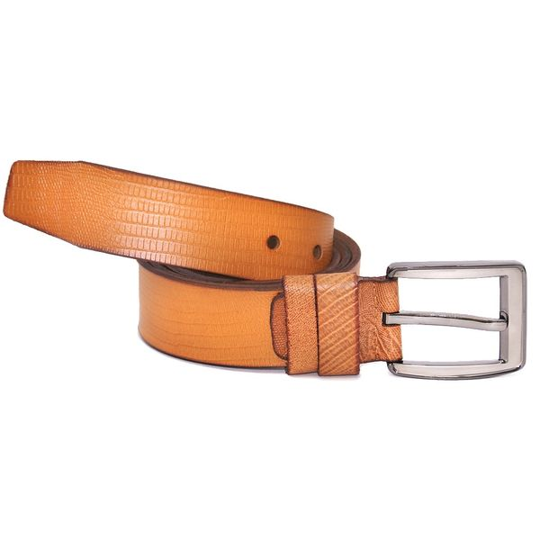 HIDEMARK CROC PRINT COLORED CASUAL LEATHER BELT