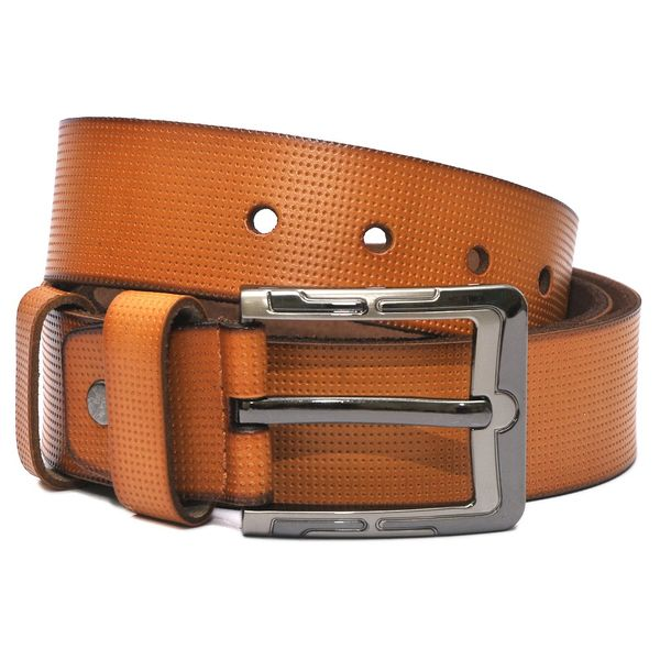 HIDEMARK COLORED DOTTED MENS CASUAL LEATHER BELT