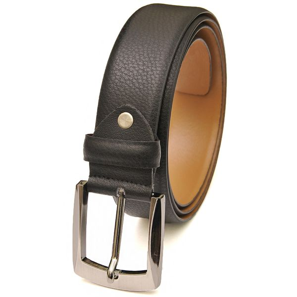 Black Classic Formal Leather Belt