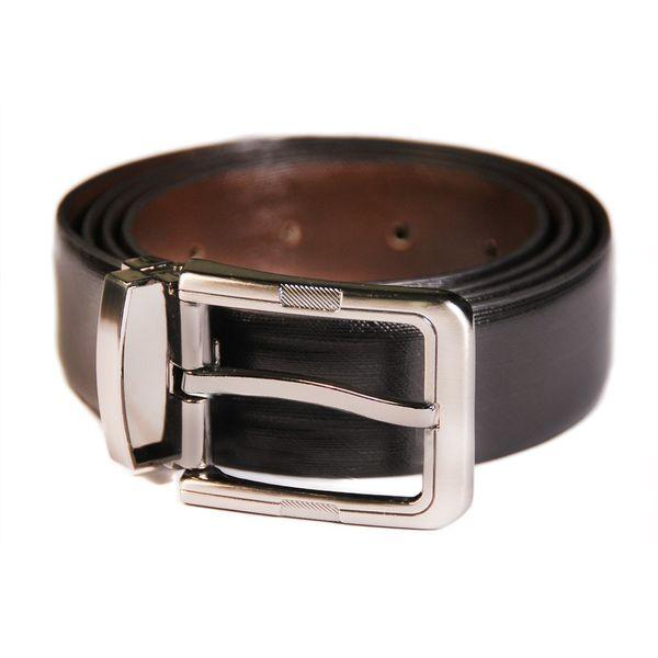 HideMark Black Leather Belt