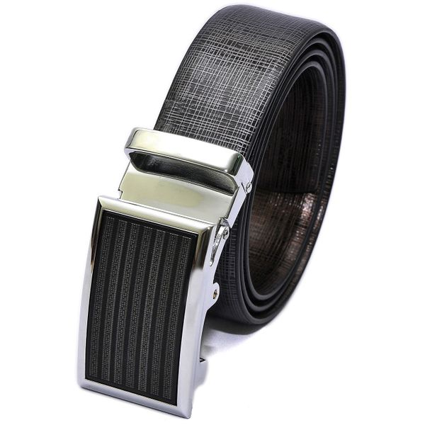 HIDEMARK BALI METALLIC ITALIAN LEATHER BELT FOR MEN WITH AUTOMATIC BUCKLE