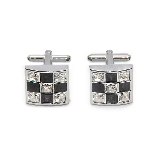 CRYSTAL SQUARE CUFFLINKS