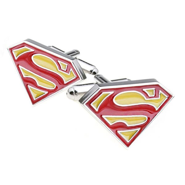 SUPERMAN CUFFLINKS  RED