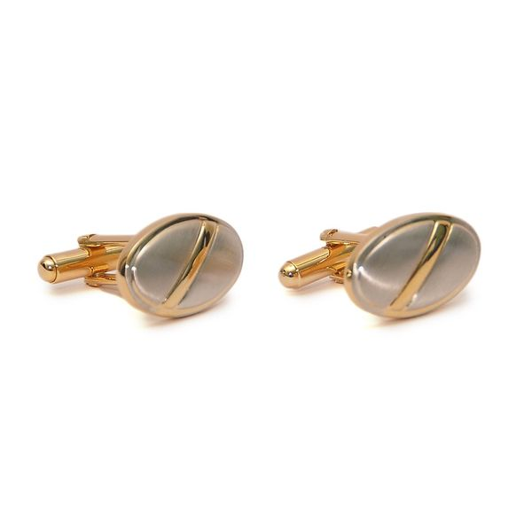 TWO -TONE MATTE FINISH CUFFLINKS