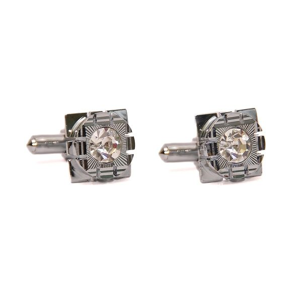 SQUARE CUT CRYSTAL CUFFLINKS