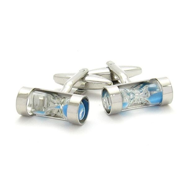 HOUR-GLASS CUFFLINKS BLUE