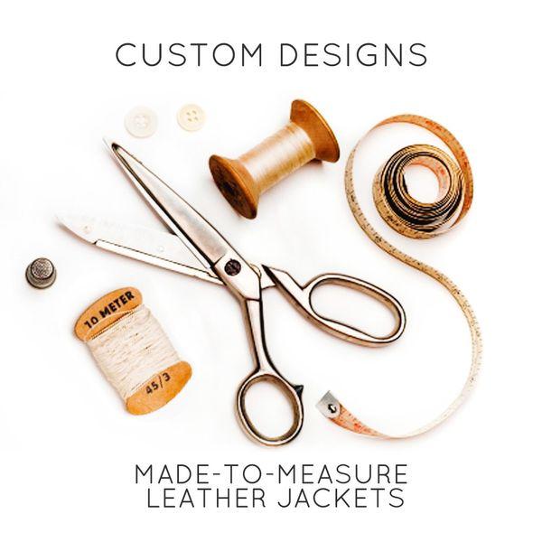 CUSTOM MADE LEATHER JACKET/ CLOTHING