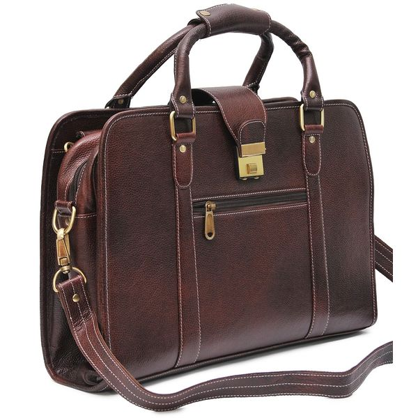 8bdf4ba0b48 HIDEMARK DOUBLE HANDLE BROWN LEATHER LAPTOP BAG · leather laptop bags · laptop  bags online buy ...
