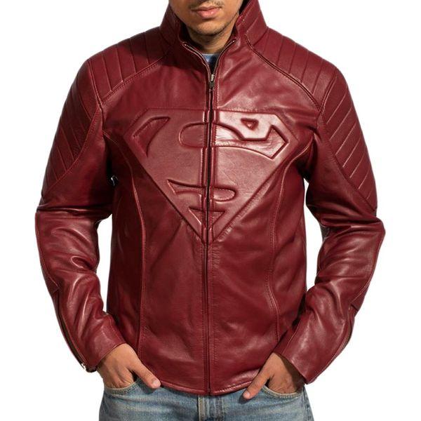 HIDEMARK SUPERMAN LEATHER JACKET - SMALLVILLE (MAROON)
