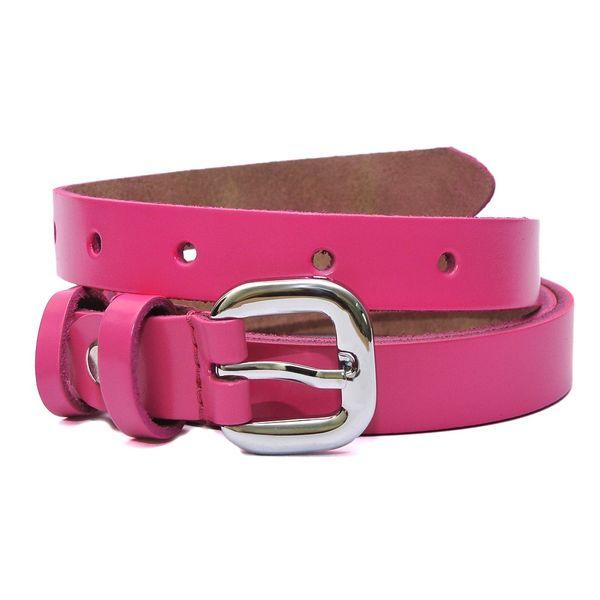 Hidemark Slim Leather Belt For Girls Hot Pink Beltkart