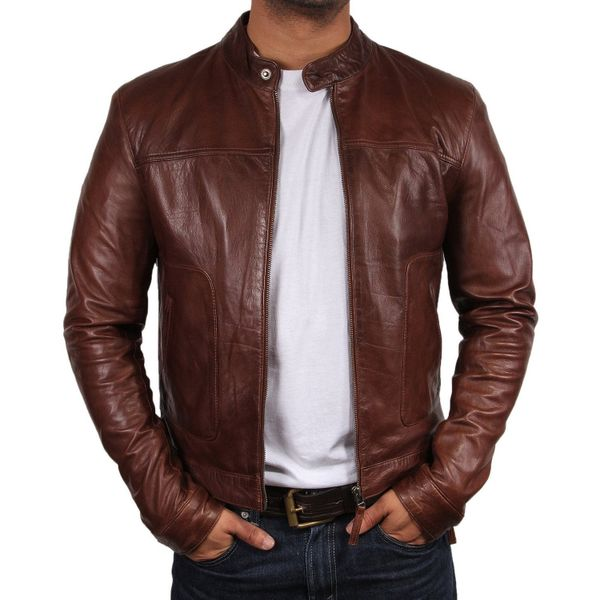 68ae3c8e712 Men s Leather Biker Jackets