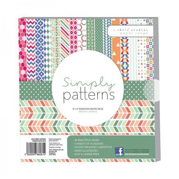 "Simply Patterns Premium Paper Pack 8"" x 8"""