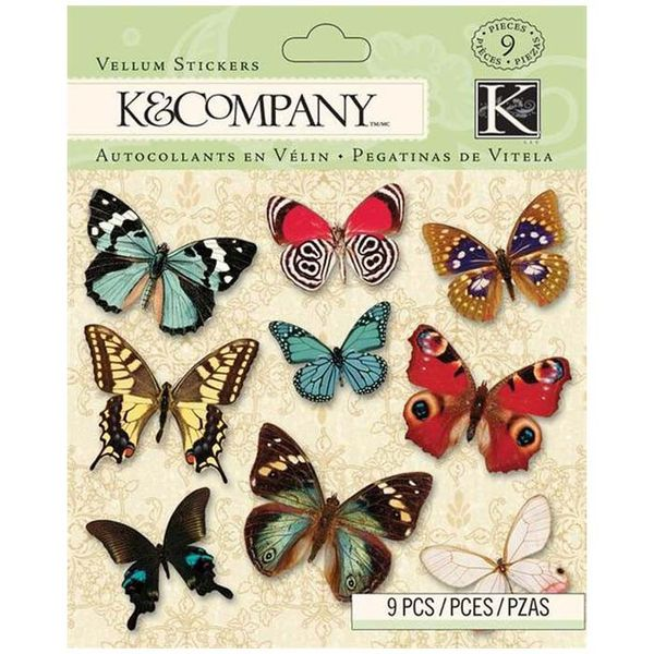 BP Butterfly Vellum Stickers