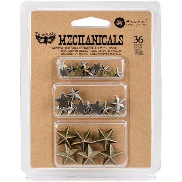 Mini Stars 36/Pkg - Metal Embellishments