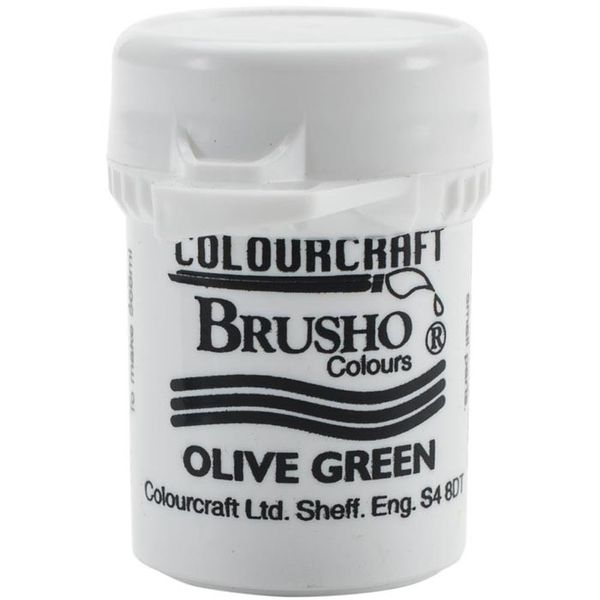 Brusho Crystal Colour 15g - Olive Green