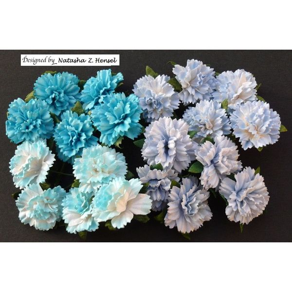 Blue - Carnations Combo