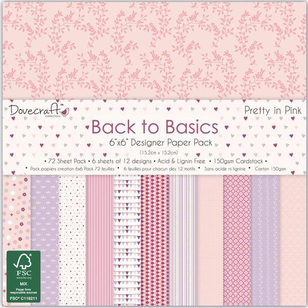 """Pretty In Pink Paper 6""""X6"""" 72/Pkg"""