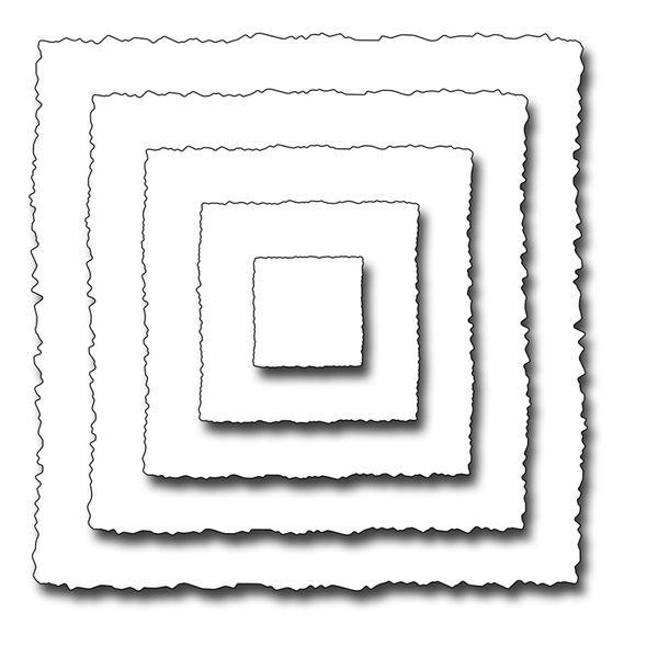 deckled squares