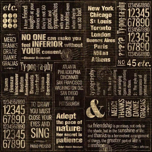 """Journey - Typography Double-Sided Cardstock 12""""X12"""""""