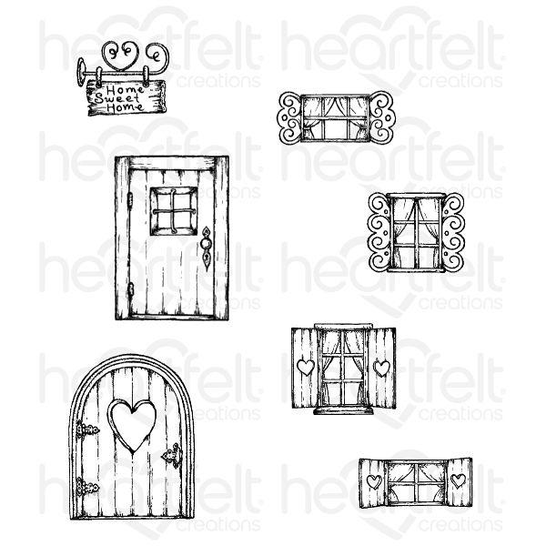Wildwood Cottage Cling Stamp Set