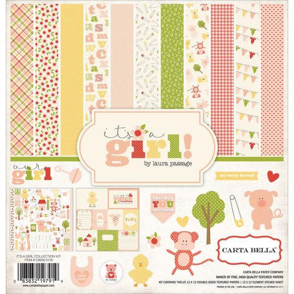 """It's A Girl - Collection Kit 12""""X12"""""""