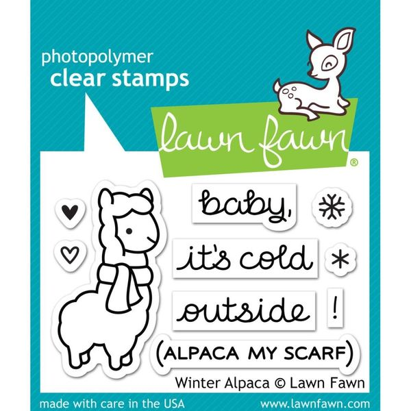 Winter Alpaca - Stamp