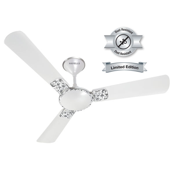Havells 1200mm Fan Enticer Art Pearl White Chrome FHCEASTPWH48