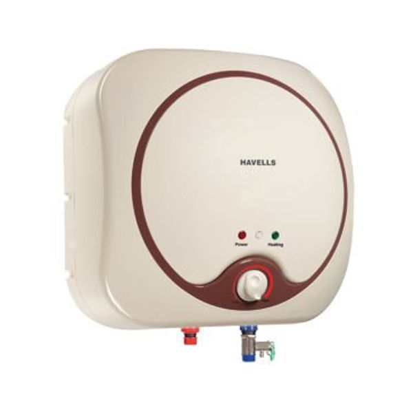 Havells Quatro 10-Litre Storage Water Heater (Ivory/Brown)