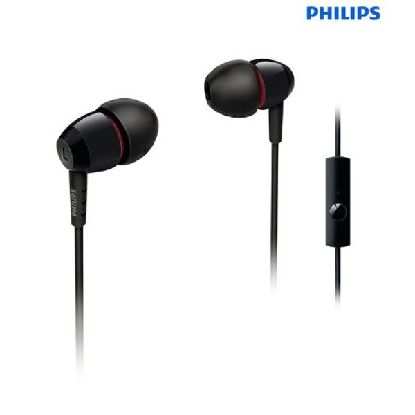 Philips SHE7005/10 In-Ear Headphone with In-Line Mic (Black)