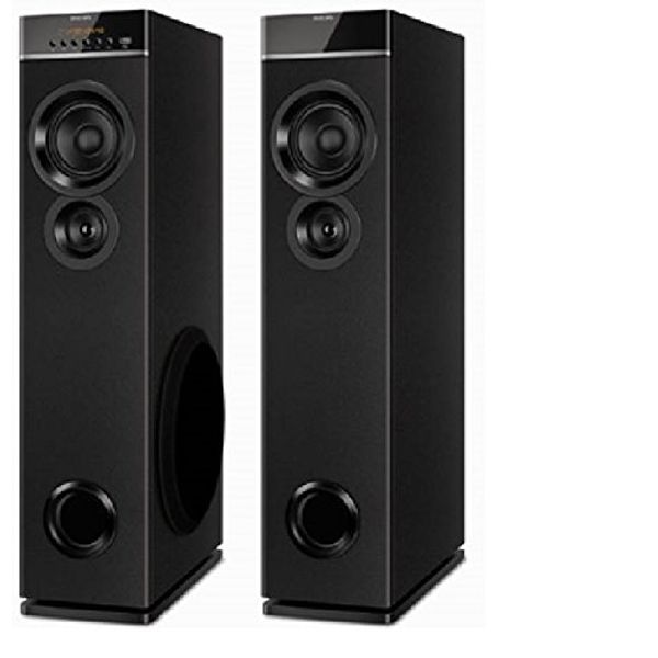 Philips SPT-6660 2.0 Channel Tower Speakers (Black) (Unboxed)