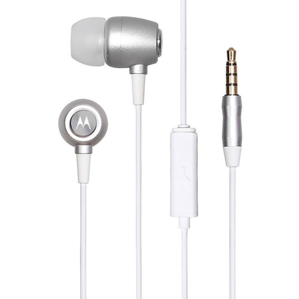 Motorola Earbuds Studio In-Ear Headphones (Silver)