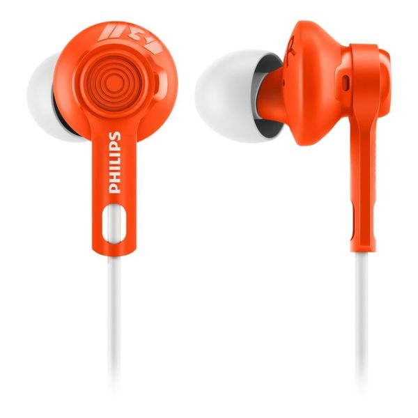 Philips SHQ2300OR/00 ActionFit Sports Headphones (Orange)