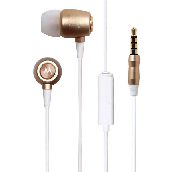 Motorola Earbuds Studio In-Ear Headphones (Gold)