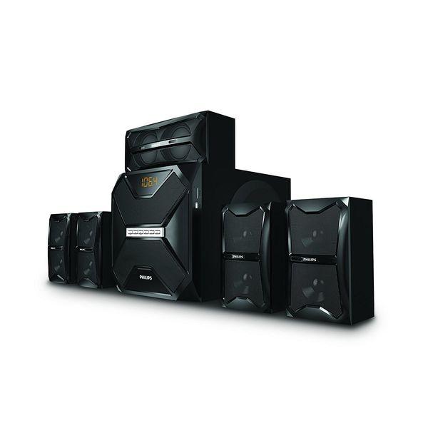 Philips SPA5250B 5.1 Channel Multimedia Speakers (Black)