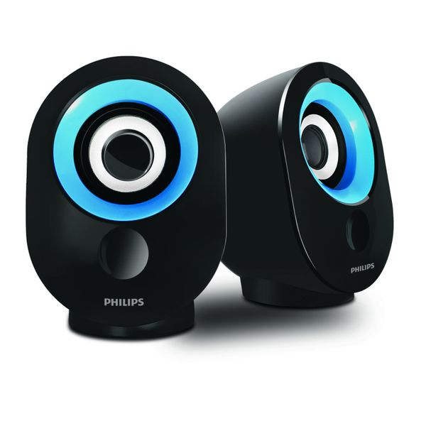 Philips SPA-502.0 speaker with USB Plug (Blue) (Unboxed)