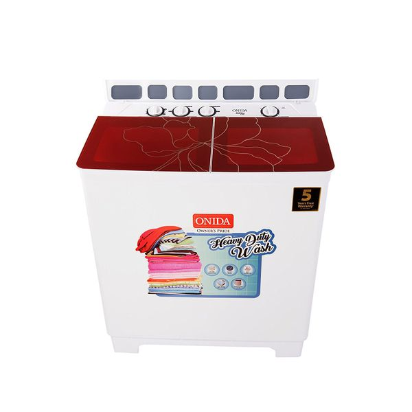Onida 8.5 kg Semi-Automatic Top Loading Washing Machine (S85GC, Red)